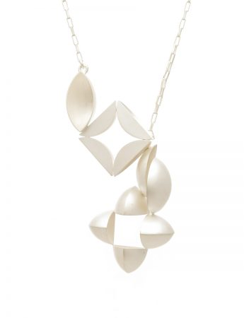 4 Piece Necklace - Bleached Silver