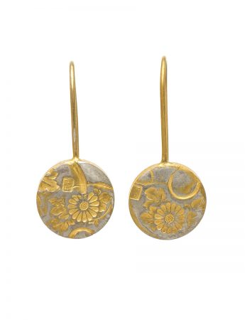 Japanese Flower Earrings – Gold Plate