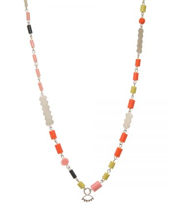 A Little Look Necklace - Pink, Orange & Green