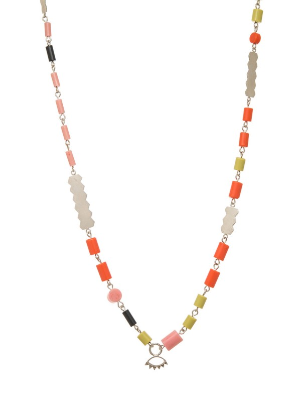 A Little Look Necklace – pink, orange & green