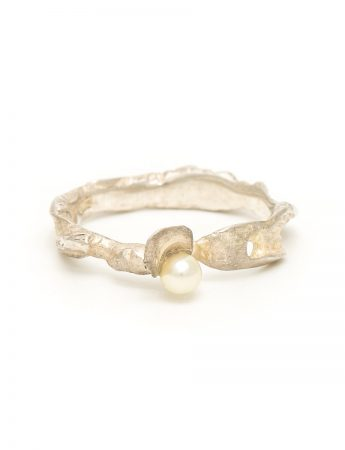 Oyster Boy Ring - Silver & Pearl