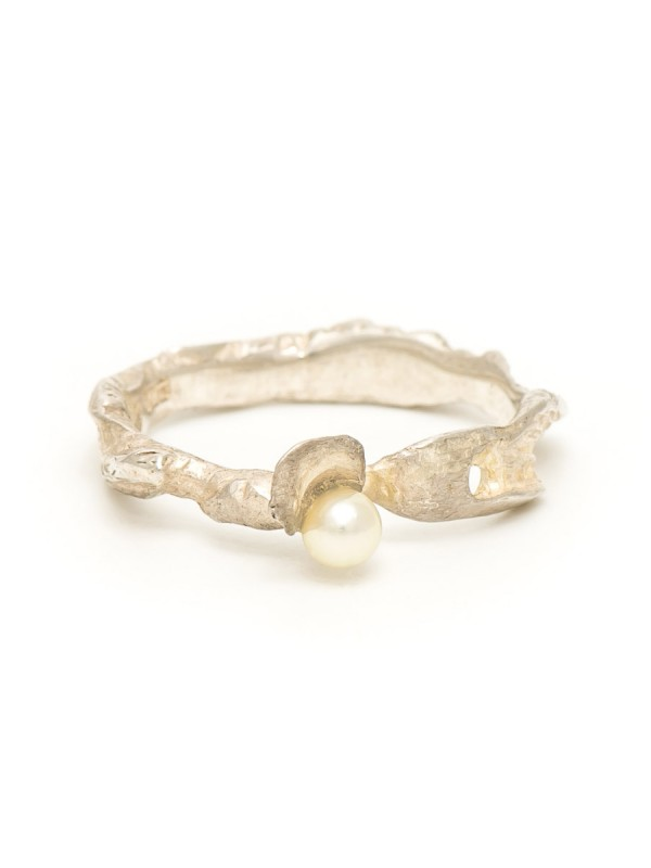 Oyster Boy Ring – Silver & Pearl