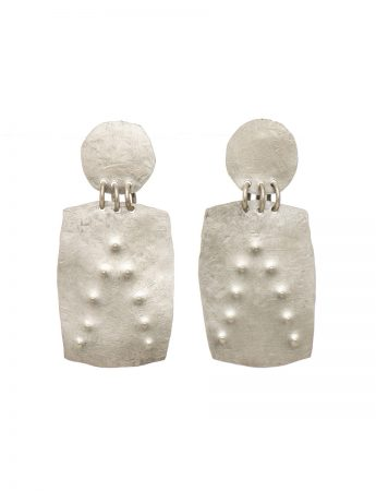 Embossed Dot Earrings – Rectangle