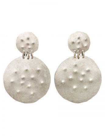Embossed Dot Earrings – Round
