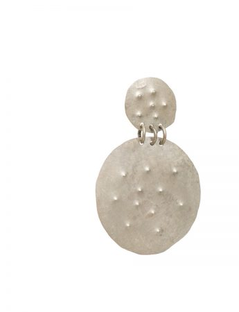 Embossed Dot Earrings - Round