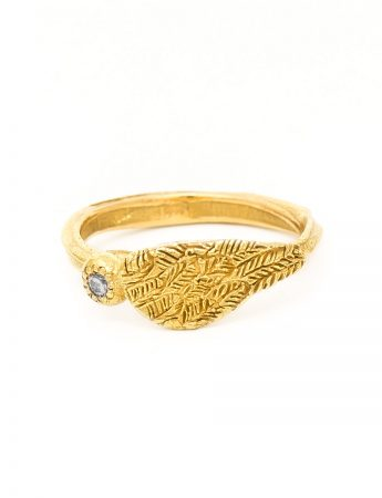 Celestial Ring - Yellow Gold & Champagne Diamond