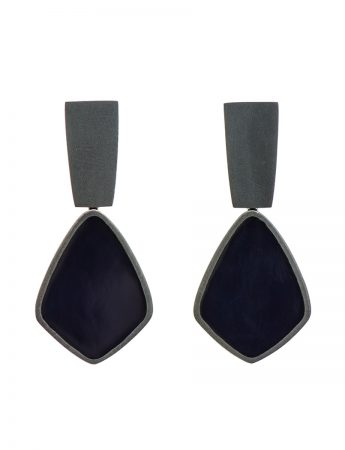 Dark Night Earrings - Blue Black