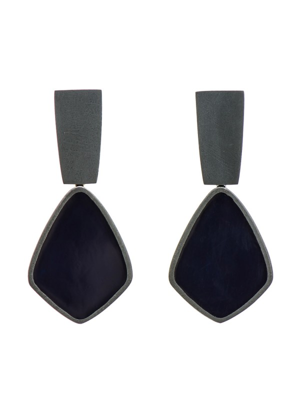 Dark Night Earrings – Blue Black