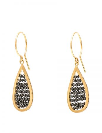 Reef Earrings - Yellow Gold & Black Diamonds