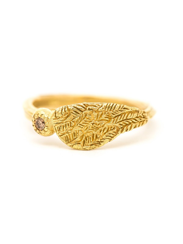 Celestial Ring – Yellow Gold & Champagne Diamond