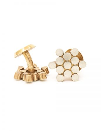 Secret Hearts Cufflinks - Yellow Gold