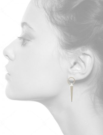Circle Plumb Line Earrings – Silver