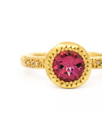 Pledge Ring – Pink Tourmaline