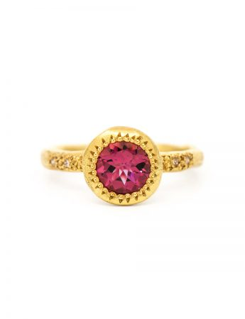 Pledge Ring - Pink Tourmaline