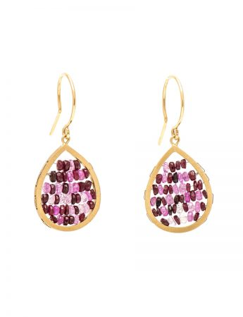 Reef Earrings - Yellow Gold & Ruby