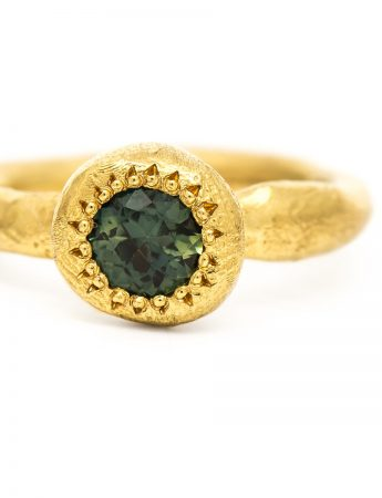 To Hold Ring - Yellow Gold & Parti Sapphire