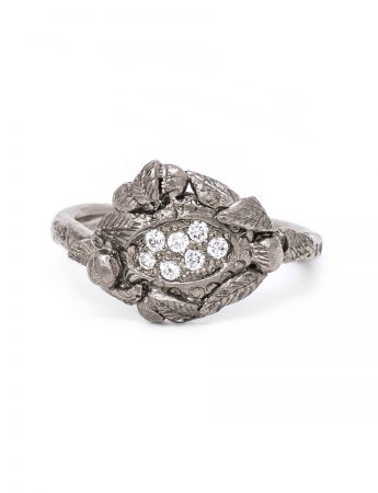 Love Token Ring - White Gold & Diamond