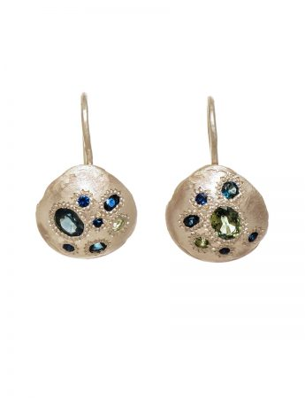 Seashore Earrings - Silver & Australian Sapphires