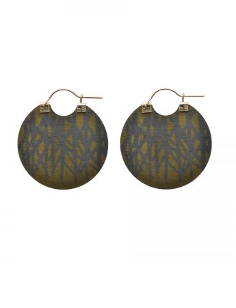 Shard Disc Earrings - Yellow & Blue