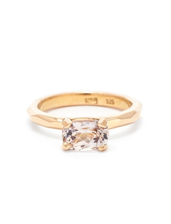 Pale Pink Champagne Sapphire Ring