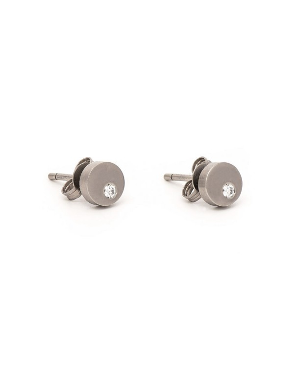 Disc Diamond Earrings – White Gold