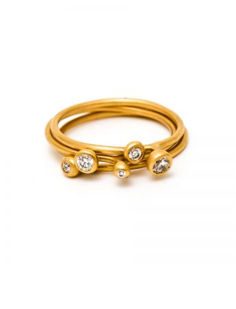 Petit Pois Assortis Ring - Yellow Gold & Diamond