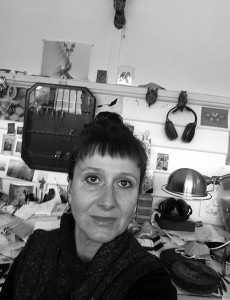 Jewellery designer Jennifer Martin in her studio