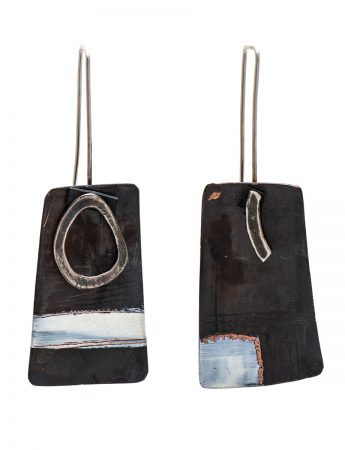 Apron Earrings - Black & White
