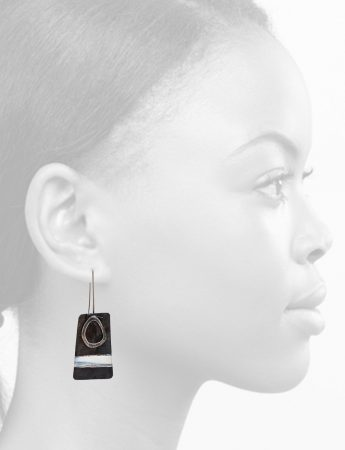 Apron Earrings – Black & White
