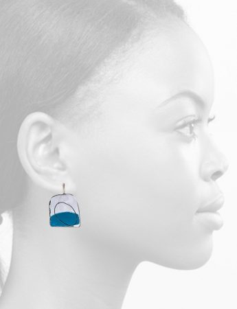 Apron Earrings – Blue