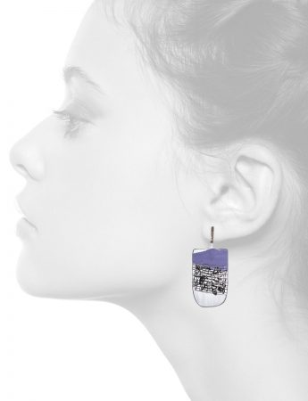 Apron Earrings – Purple