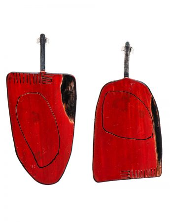 Apron Earrings - Large Red