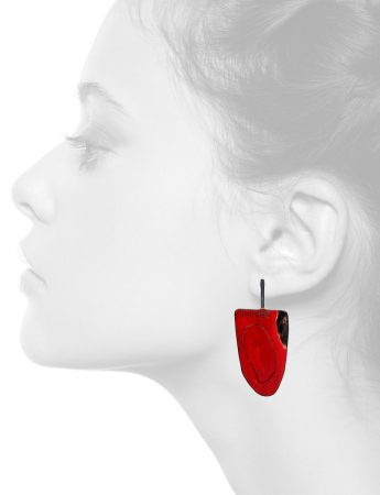 Apron Earrings – Large Red