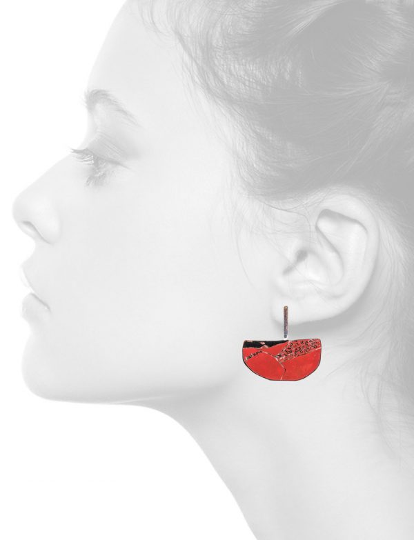 Apron Earrings – Small Red