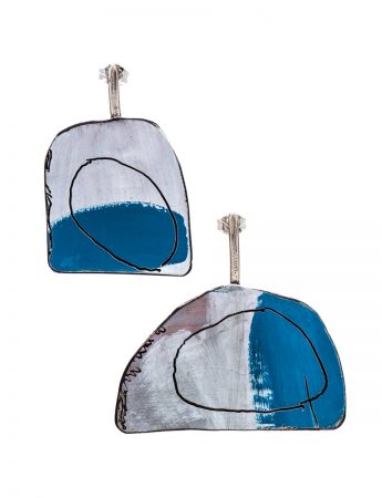 Apron Earrings - Blue