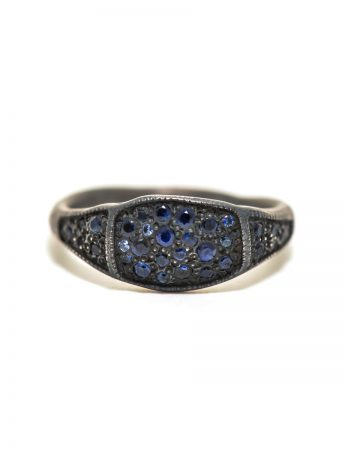 Three Section Signet Ring - Sapphire