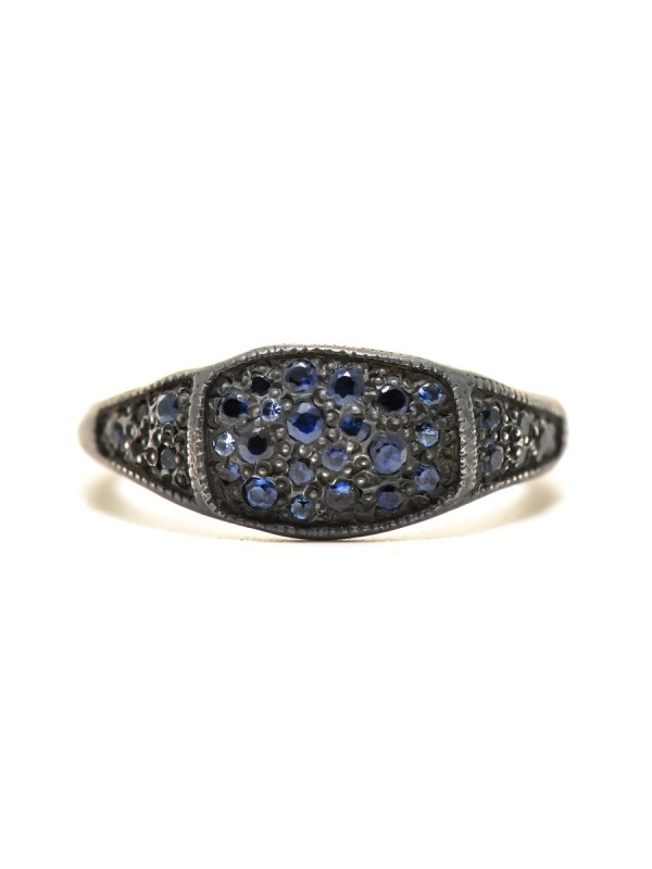Three Section Signet Ring – Sapphire