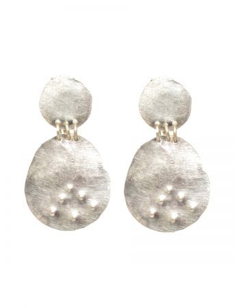 Embossed Dot Earrings - Oval