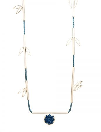 Eucalypt Necklace - Blue & White