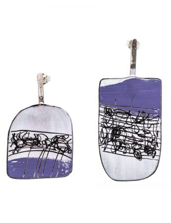 Apron Earrings - Purple