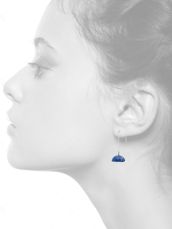 Turtle Earrings – Small Blue