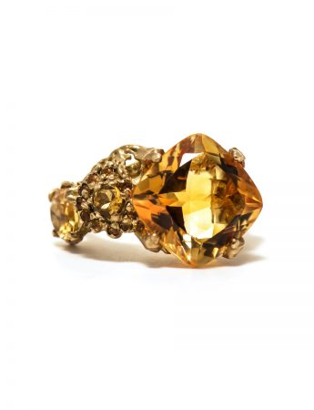 The Other Shore Ring - Citrine & Sapphire