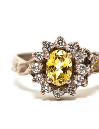 Queenie Ring - Yellow Sapphire