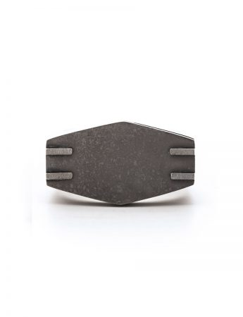 Flesh & Bone Hex Signet Ring - Silver