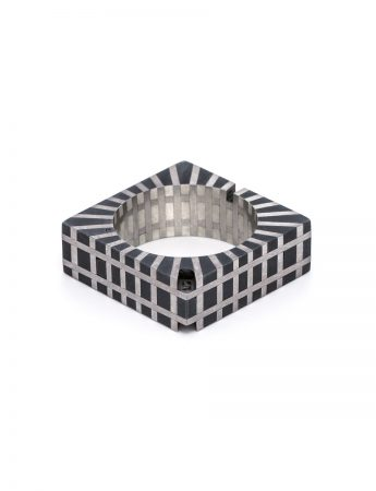Flesh & Bone Square Ring - Silver