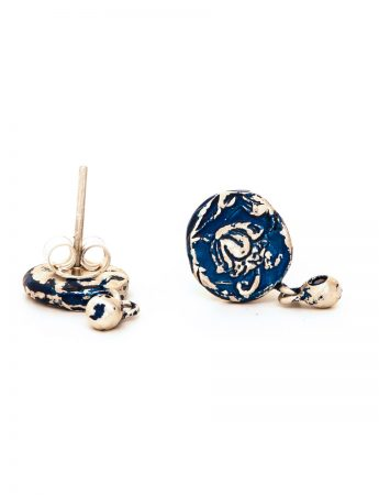 Fragment Stud Earrings – Blue