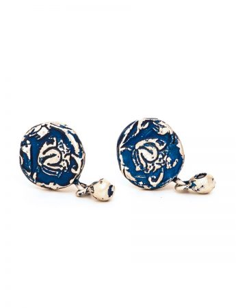 Fragment Stud Earrings - Blue
