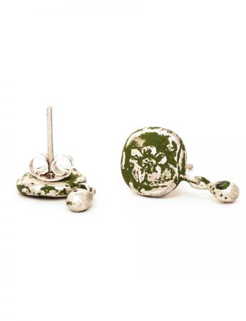 Fragment Stud Earrings - Green