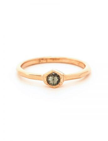 Morning Star Sapphire Ring - Rose Gold