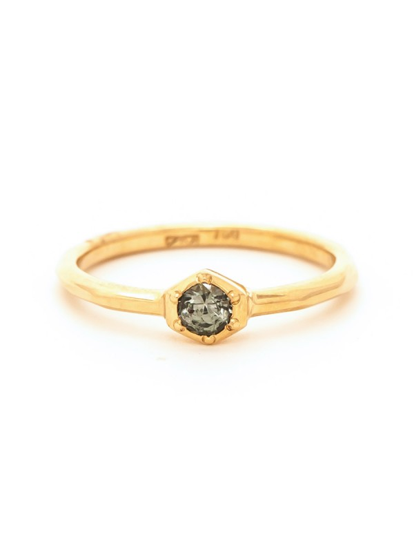 Morning Star Sapphire Ring – Yellow Gold